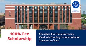 Shanghai Jiao Tong University Scholarship : Xitoyda top 47 reytingdagi univeristetda  magistratura hamda PhD bosqichlarida tahsil olish imkoniyati