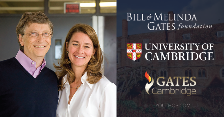 Gates Cambridge Scholarship   Fully Funded: Buyuk Britaniyada Magistratura va PhD bosqichlari uchun to'liq grant
