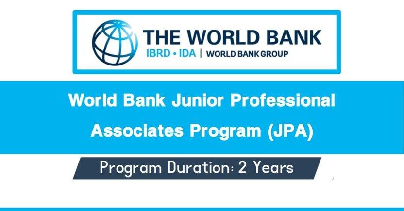 Junior Professional Associates : Jahon bankida amaliyot o'tash hamda ishlash imkoniyati