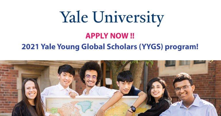 Yale Young Global Scholars (YYGS) : AQSHda 16-18 yoshliklar uchun yozgi maktab-100% gacha qoplanadi